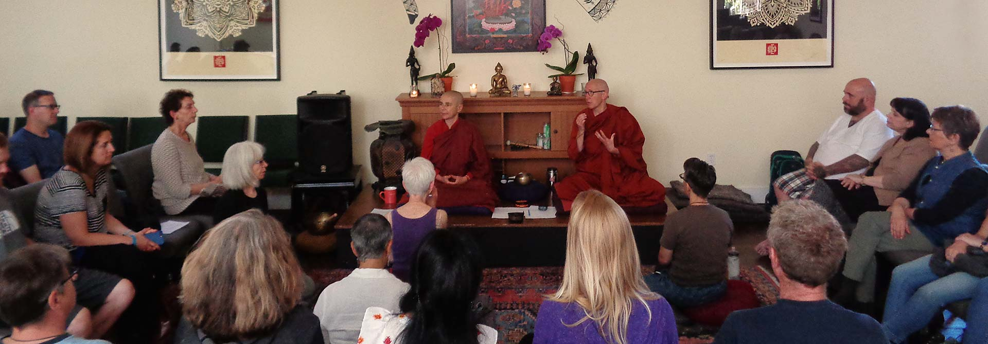 Aloka Vihara Forest Monastery nuns lead a retreat