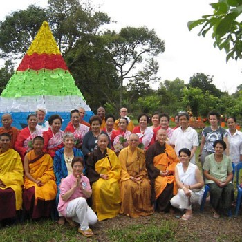Tara stupa inauguration at the International Women's Meditation Center, Rayong, Thailand.