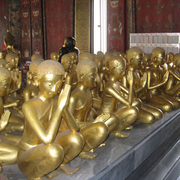 Gold-leafed statues from 1836.