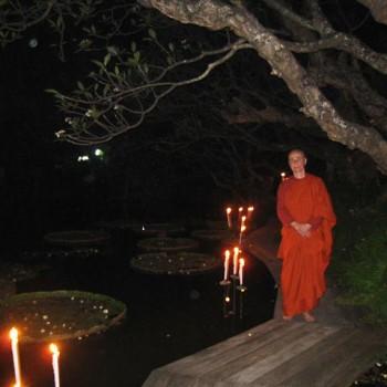 Magha Puja at Satheean Dhamma Sathan in Bangkok.