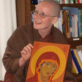 Sister Sumedha with her icon, Amaravati