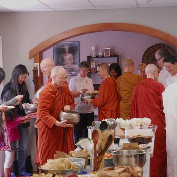 Food offering at our Almsgiving Ceremony hosted by the Mindfulness Care Center, SF.