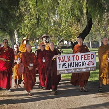 BGR walk at Buddhist Monastic Gathering, Escondio, CA