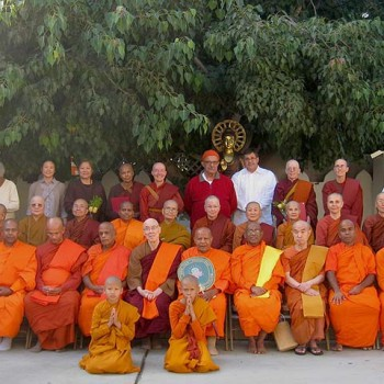 Four-fold Sangha at Bhikkhuni Ordination, LA