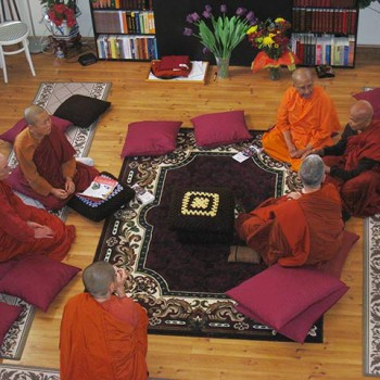 Bhikkhuni Mandala at Ven Susila's vihara in Diamond Bar, CA
