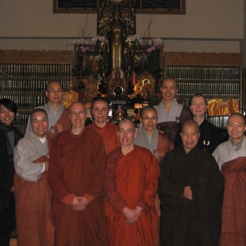 Korean bhikkhuni visit us at Berkeley Buddhist Monastery.