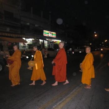 Walking into town early morning, Chonburi, Thailand, Mar 2012
