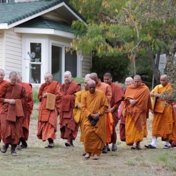 Procession during ordination ceremony of Ayya Jayati