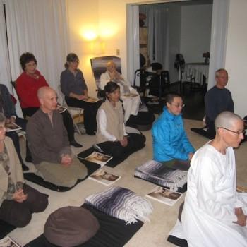Precept ceremony of Anagarika Susan
