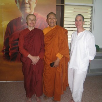 with Ven Dhammananda & Satima, Thailand