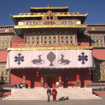 with Satima at Shechen Monastery, Kathmandu