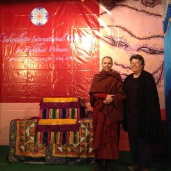 Sakyadhita Conference in Vaishali with Jill Boone, founding Saranaloka President