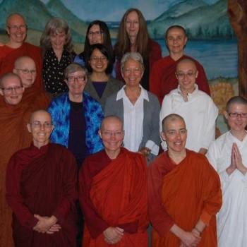 Scholars and nuns at Symposium Benefit for Aloka Vihara at IMC, Redwood City