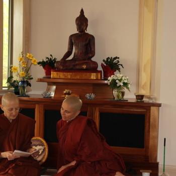 With our elder Ayya Medhanandi