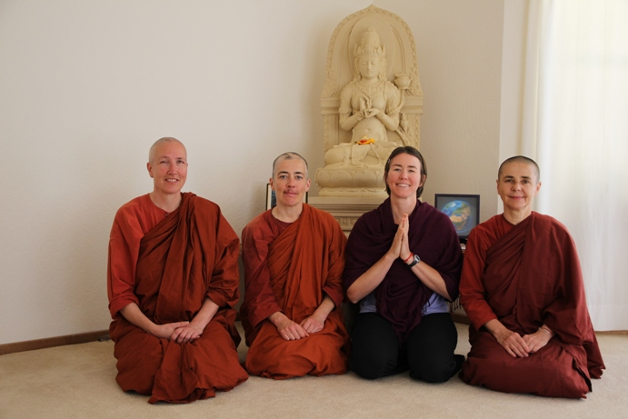 With the Aloka Vihara bhikkhunis and the Prajna Paramita