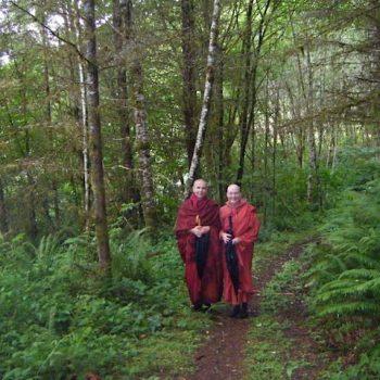 With Ayya Santussika at Cloud Mountain Retreat Center