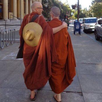 Ayya Anandabodhi & Ven Dhammadipa after BGR walk in San Francisco