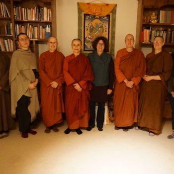 Vinaya Scholar Prof Dr Ute Huesken visit