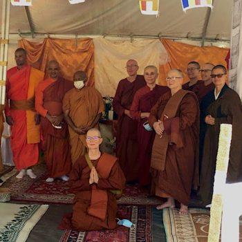 The ordaining Sangha & friends